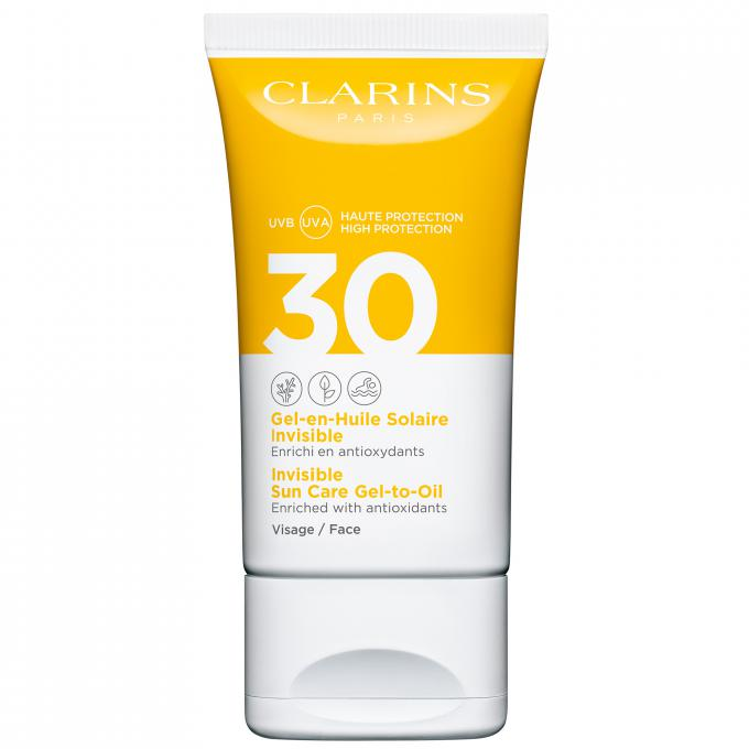 GEL-EN-HUILE SOLAIRE INVISIBLE SPF30 VISAGE Clarins Solaires