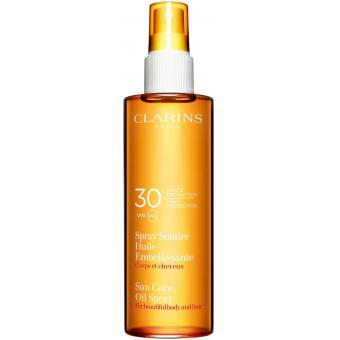 SPRAY SOLAIRE HUILE EMBELLISSANTE CORPS & CHEVEUX SPF30 Clarins Solaires
