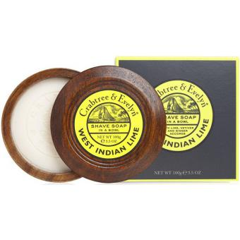 Savon à Raser Bol en Bois - West Indian Lime