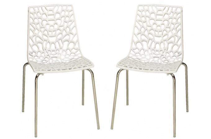 lot de 2 chaises blanches traviata chaises design pas cher. Black Bedroom Furniture Sets. Home Design Ideas