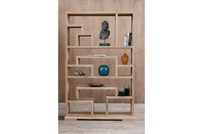 etag re zen en teck massif etag re pas cher. Black Bedroom Furniture Sets. Home Design Ideas