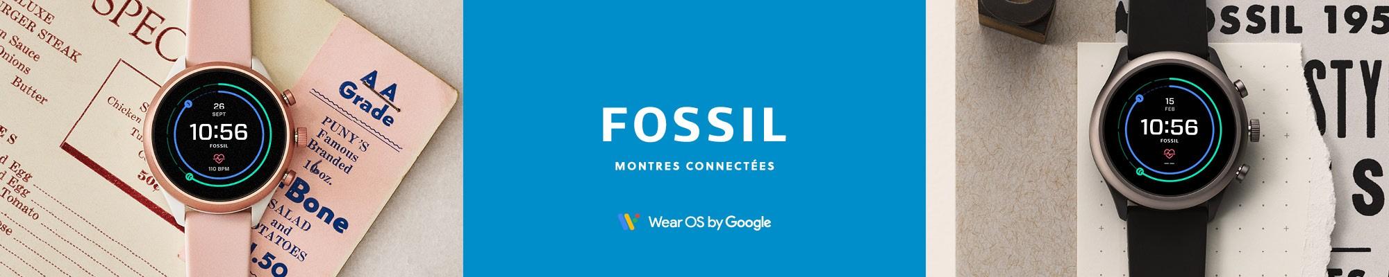 Bannière Fossil Montres connectées couple