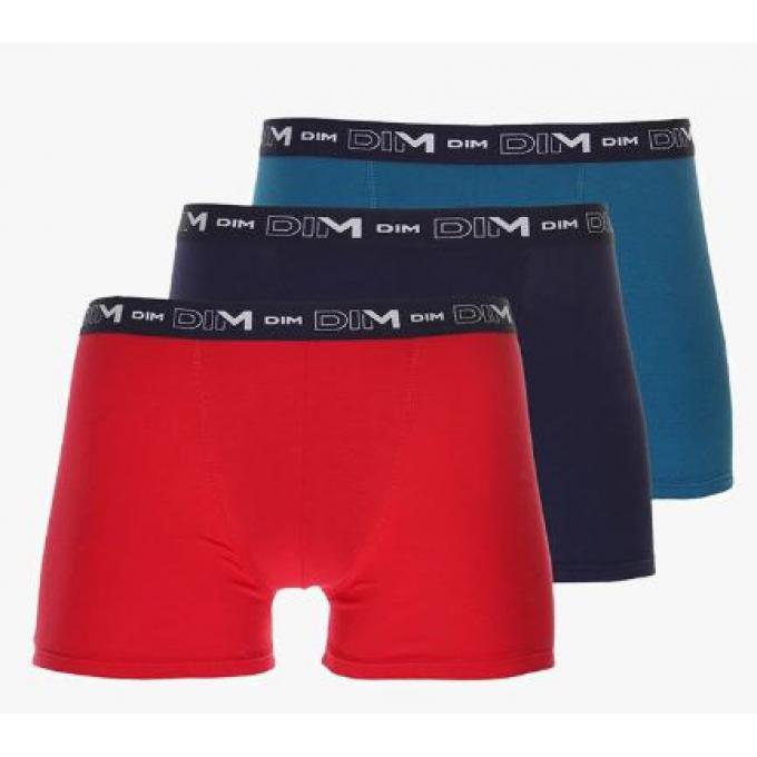 f88069790 Pack de 3 Boxers Coton Stretch - Ceinture Siglée Dim - Cadeaux Mode ...