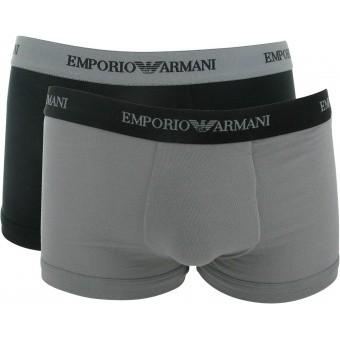 Emporio Armani Underwear Homme - PACK 2 BOXERS COTON STRETCH - Ceinture Siglée -