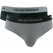 Emporio Armani Underwear Homme - PACK 2 SLIPS COTON STRETCH - Accessoires Mode - ARMANI UNDERWEAR