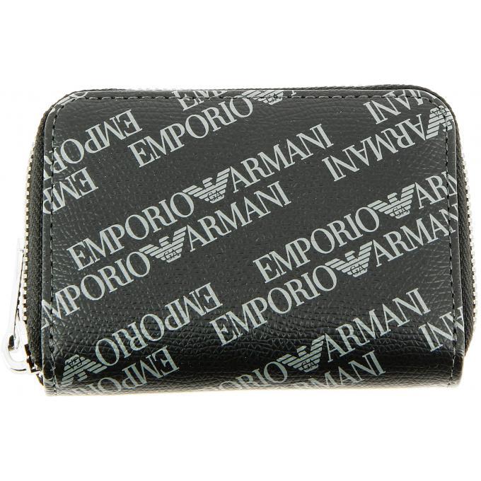 Porte monnaie avec logos et porte clés intérieur Emporio Armani ... 54bb9017fd9