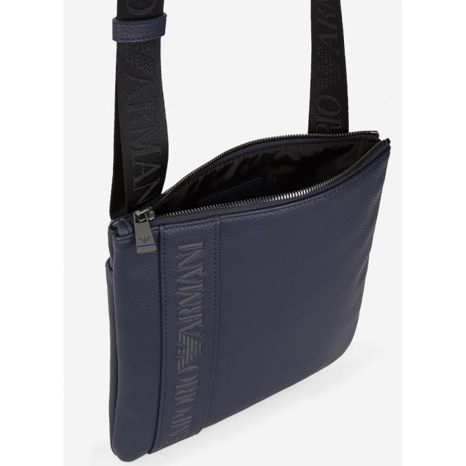 da36ce12a25 sac porté croisé logo horizontal Emporio Armani - Pochette   Sacoche ...
