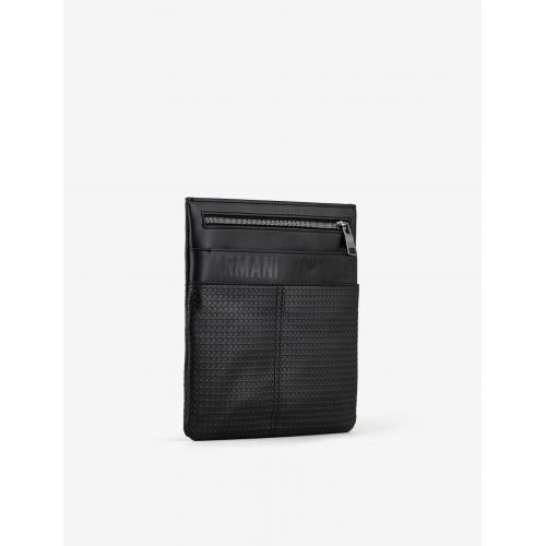 Emporio Armani - Small Flat Crossbody - Besace homme messenger