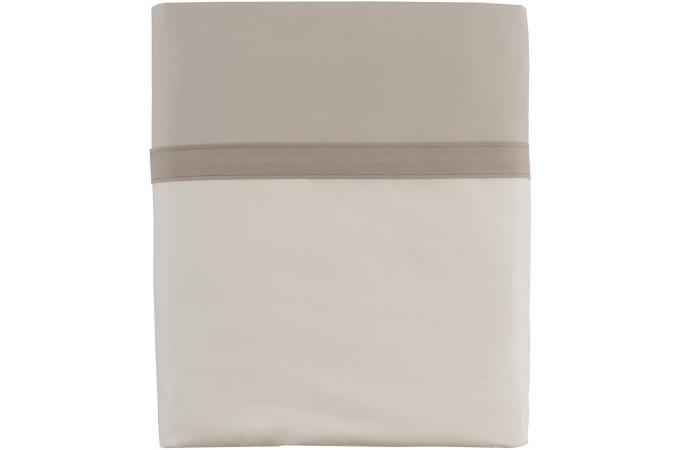 Housse de couette taupe et gris perle percale de coton Housse de couette percale de coton 220x240