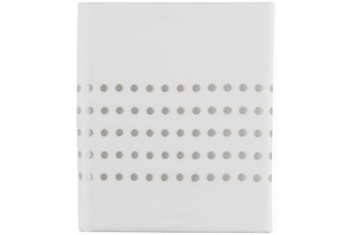 Housse de couette blanche percale de coton brod 200x200 for Canape d angle 200x200