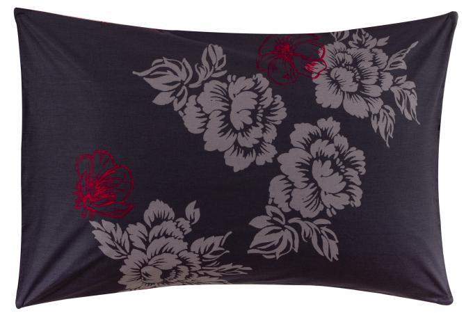 taie d 39 oreiller coton imprim 50x70 midnight housse de couette et taie d 39 oreiller pas cher. Black Bedroom Furniture Sets. Home Design Ideas