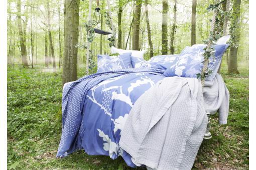 Parure de lit bleue sherwood 200x200 cm et deux taies d for Canape d angle 200x200