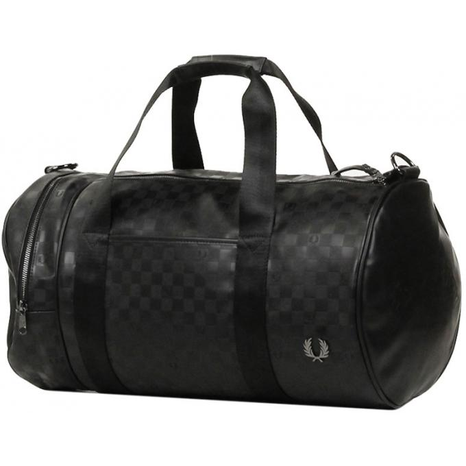 sac canon double port damier fred perry sac de voyage homme. Black Bedroom Furniture Sets. Home Design Ideas