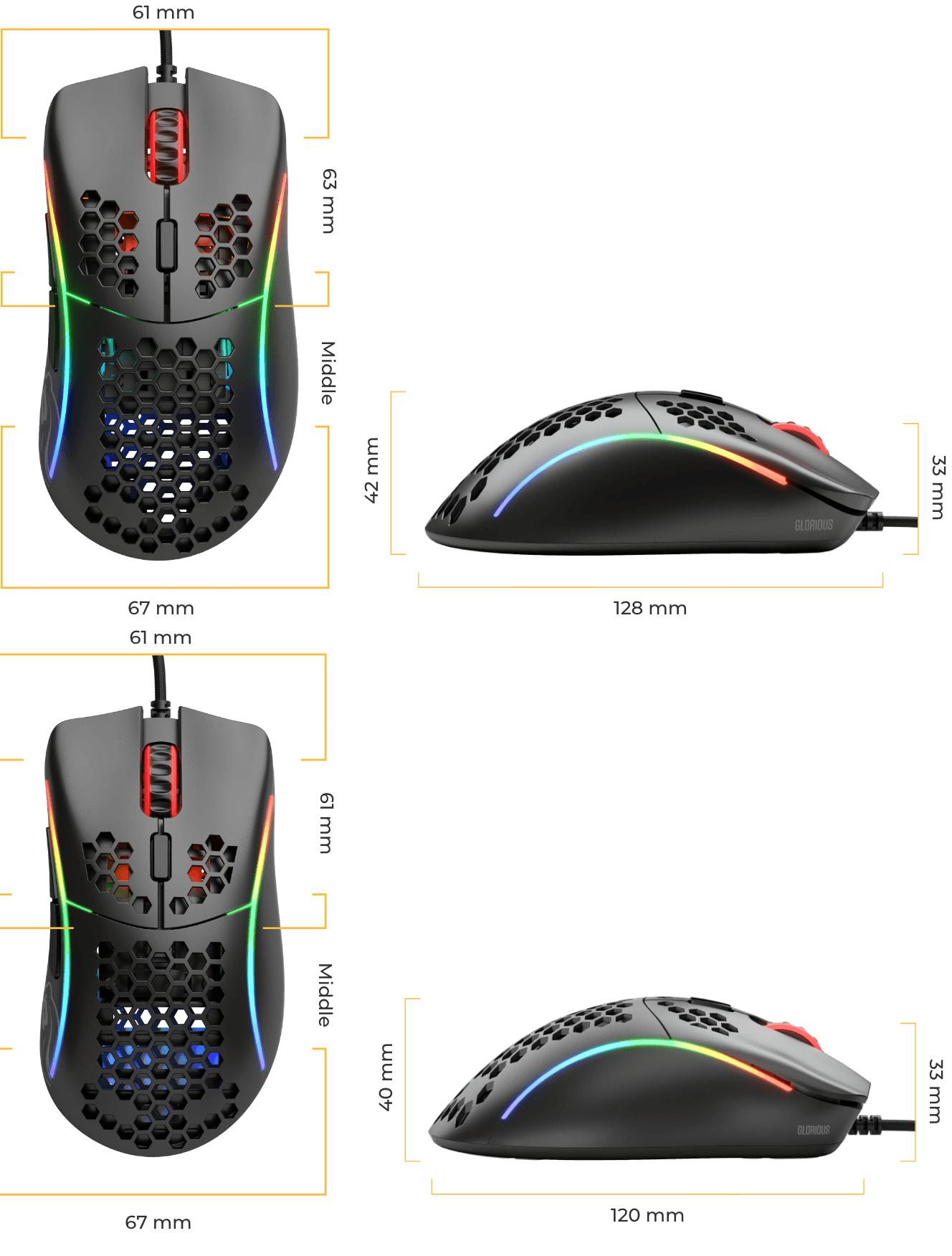Model D- Souris Gaming - Noire