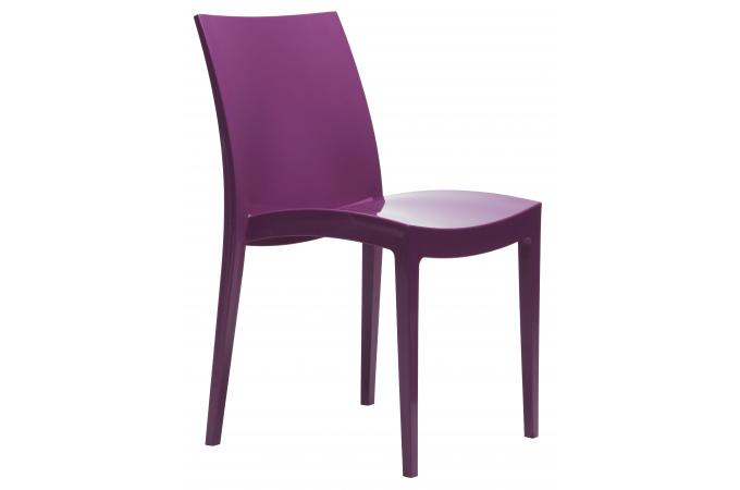 chaise polypropyl ne flashy violette london h chaise design pas cher. Black Bedroom Furniture Sets. Home Design Ideas
