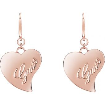Boucles d'oreilles Coeurs Or rose - Guess Bijoux - Guess