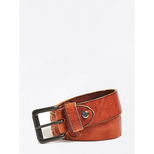 Guess Maroquinerie - CEINTURE AJUSTABLE A BOUCLE G ROND - Maroquinerie guess homme