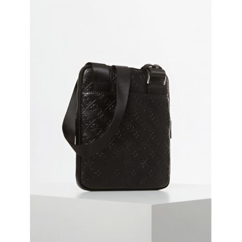 Guess Maroquinerie - DAN LOGO MINI FLAT CROSSBODY - Maroquinerie guess homme