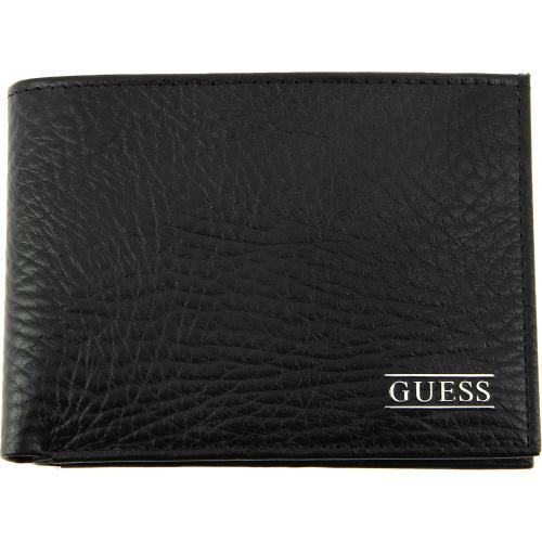 Guess Maroquinerie - Portefeuille Cuir Grainé 2 Volets - Maroquinerie guess homme