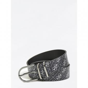 Guess Maroquinerie - CEINTURE A BOUCLE MANHATTAN LOGO - Maroquinerie guess homme
