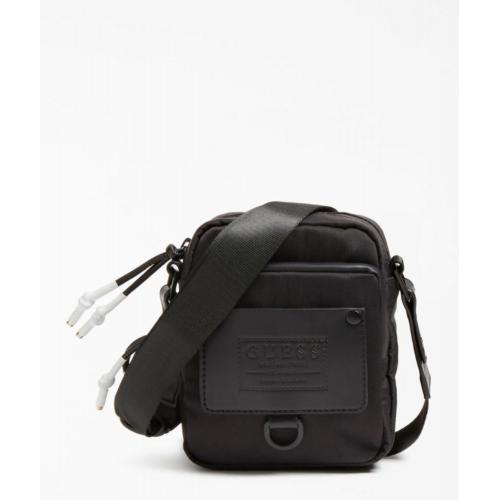 Guess Maroquinerie - Mini sac Besace homme Guess noir  - Maroquinerie guess homme
