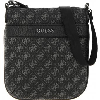Guess Maroquinerie - CITY LOGO MINI FLAT CROSSBODY - Maroquinerie guess homme