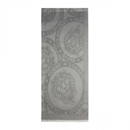Guess Maroquinerie - Foulard Jacquard homme gris 80X185 - Maroquinerie guess homme