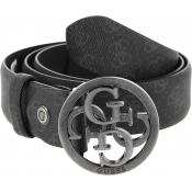 Guess Maroquinerie - Ceinture Effet Saffiano Ajustable - Maroquinerie guess homme