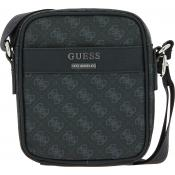 Guess Maroquinerie - Petit Crossover Effet Saffiano - Maroquinerie guess homme