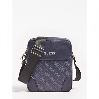 Guess Maroquinerie - MINI SAC REPORTER MANHATTAN LOGO - Maroquinerie guess homme