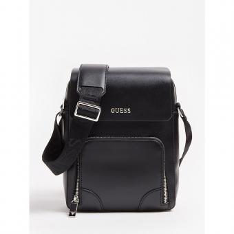 Guess Maroquinerie - SAC PORTE CROISE AVEC RABATS MANHATTAN - Maroquinerie guess homme