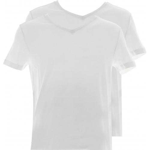 Guess - PACK 2 T-SHIRTS HERO COL V COTON - LOGO DISCRET-Guess - Underwear & Beachwear - Cadeau mode homme