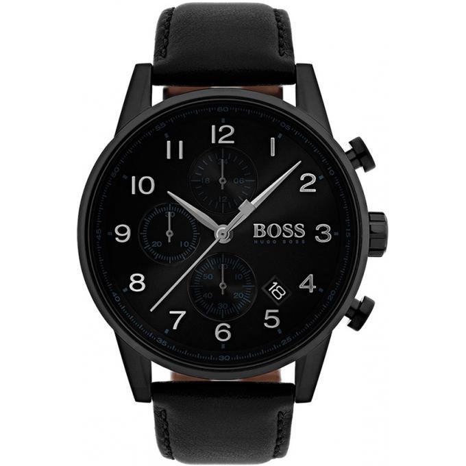 Hommes Montre Hugo Boss 1513497 - Montre Chronographe Noir Homme