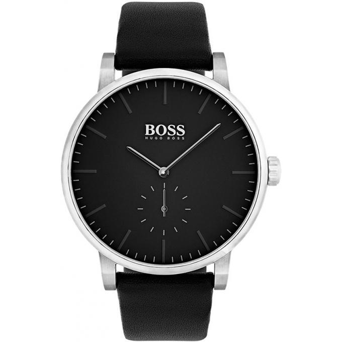 Hommes Montre Hugo Boss 1513500 - Montre Cuir Cadran Noir Homme