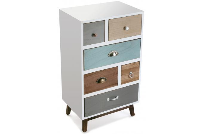 bahut 6 tiroirs eva meuble de rangement pas cher. Black Bedroom Furniture Sets. Home Design Ideas
