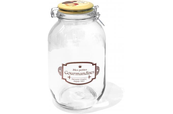 Bocal verre maxi jaune accessoires cuisine sali re for Accessoire cuisine jaune