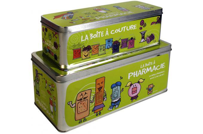 Boite a pharmacie x2 tailles 4 coloris vert bo te de rangement pas cher - Boite a pharmacie design ...