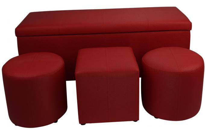 bout de lit coffre rouge pied de lit pas cher. Black Bedroom Furniture Sets. Home Design Ideas