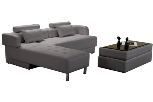 canap angle r versible 2 chaise pouf tbl basse synderme gris lago canap d 39 angle pas cher. Black Bedroom Furniture Sets. Home Design Ideas