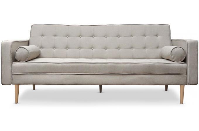 canap convertible scandinave yamasa tissu beige canap convertible pas cher. Black Bedroom Furniture Sets. Home Design Ideas