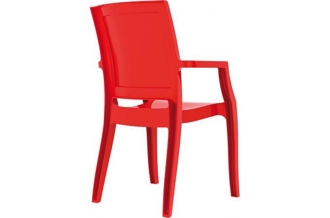 Chaise design rouge laqu e allia chaise design pas cher for Chaise rouge design pas cher