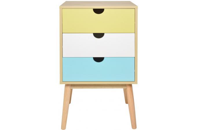 commode aqua petit mod le 3 tiroirs la chaise longue commode pas cher. Black Bedroom Furniture Sets. Home Design Ideas