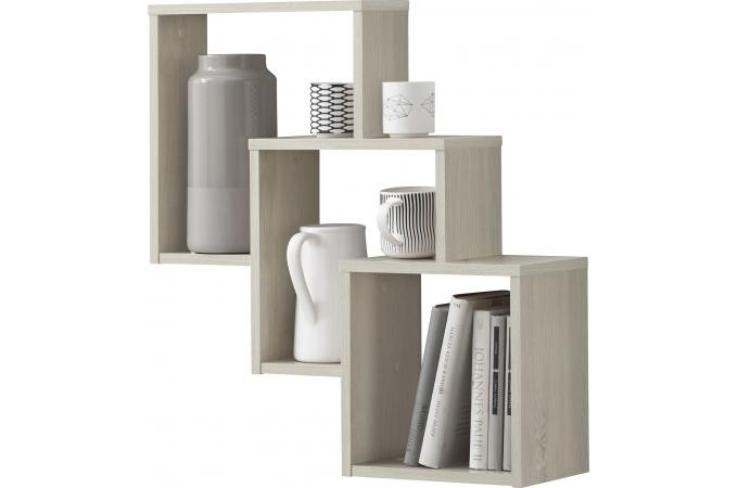 Etag re murale 3 cases h tre kube etag re pas cher - Deco etagere murale salon ...