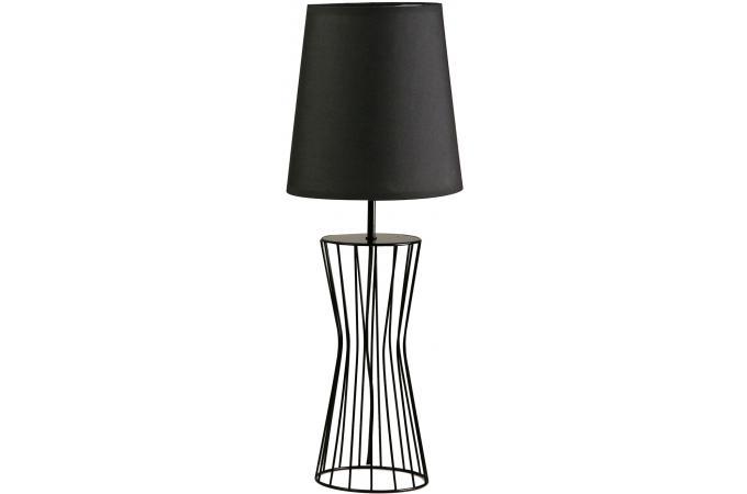Lampe poser noire 22x60cm lampe poser pas cher for Lampe a poser noire