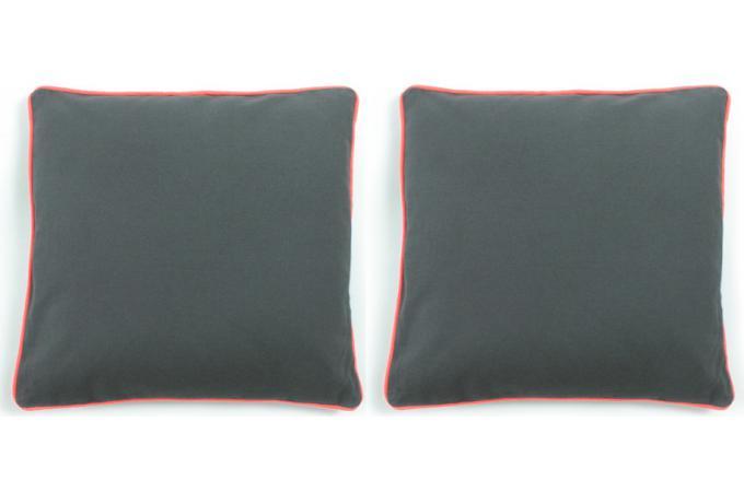 lot de 2 coussins d houssables gris 40x40 today orange coussin pas cher. Black Bedroom Furniture Sets. Home Design Ideas