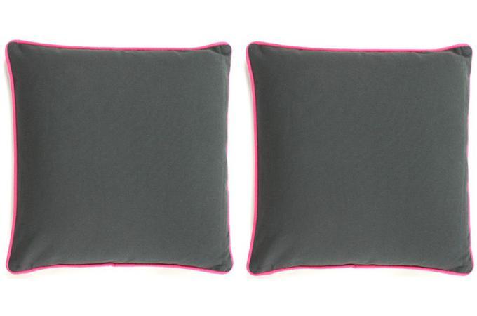 lot de 2 coussins d houssables gris 40x40 today rose coussin pas cher. Black Bedroom Furniture Sets. Home Design Ideas