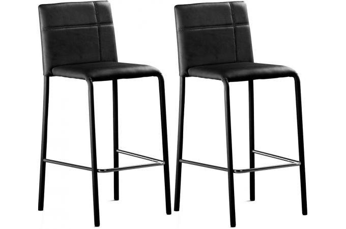Lot de 2 tabourets de bar noir prince design pas cher sur sofactory - Tabouret de bar discount ...