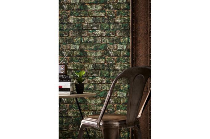 papier peint rouille en vinyle arthur papier peint bois m tal pas cher. Black Bedroom Furniture Sets. Home Design Ideas