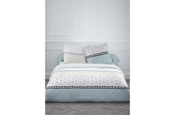 parure housse de couette 220x240cm coton 57 fils today enjoy chili housse d. Black Bedroom Furniture Sets. Home Design Ideas