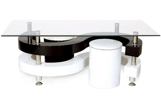 table basse plateau en verre gaia design pas cher sur. Black Bedroom Furniture Sets. Home Design Ideas